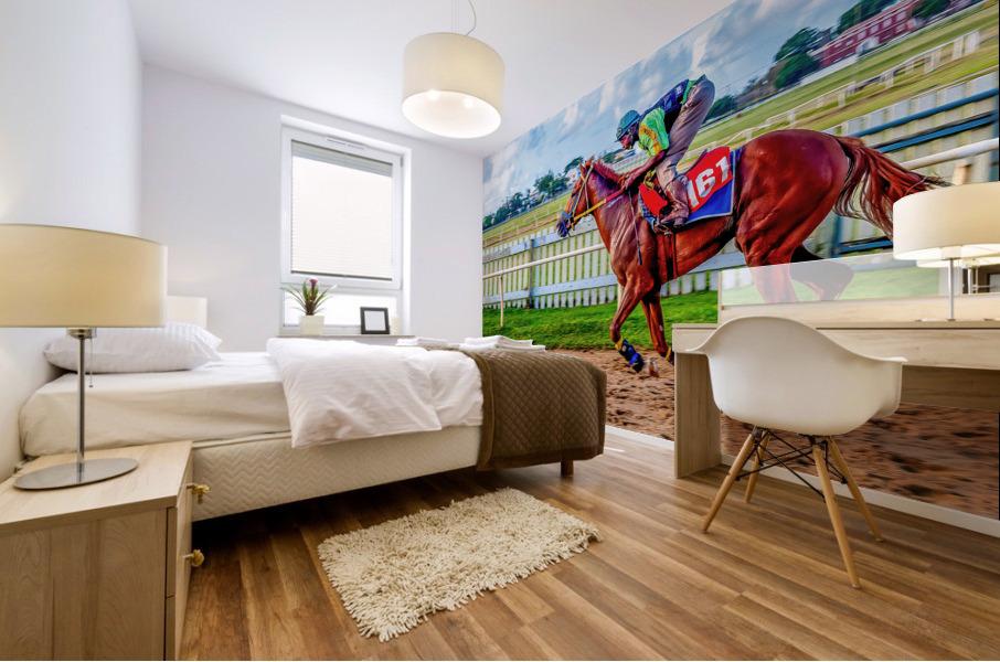 Racehorse10 Mural print