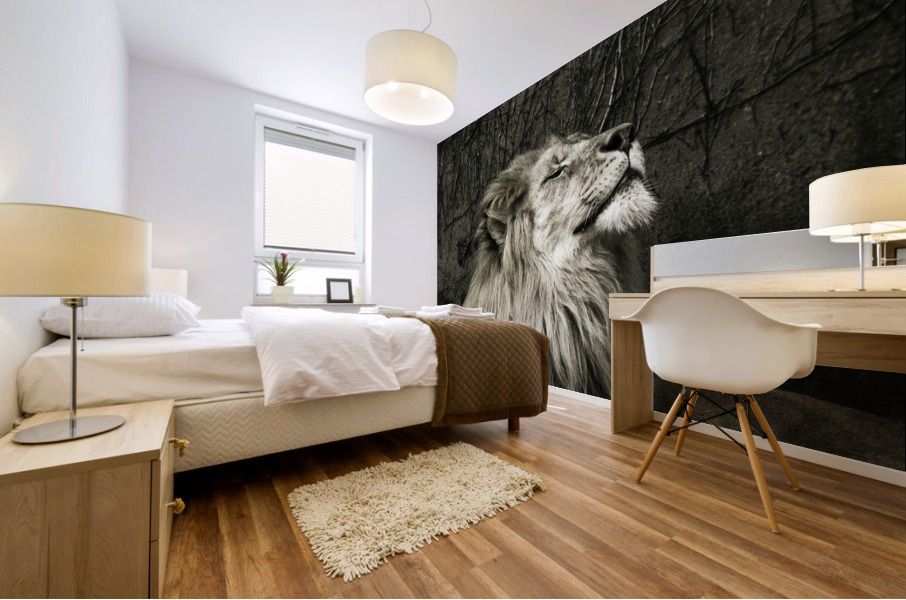 Chill of the Day  Lion  Mural print