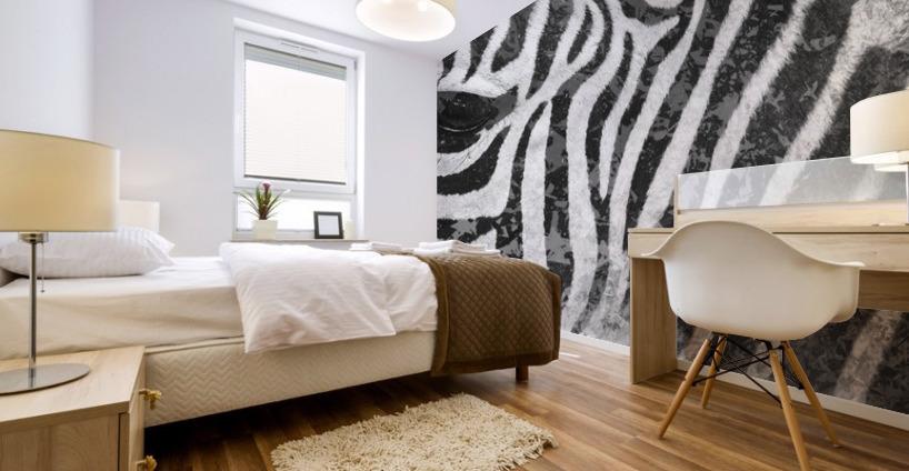 zebre 2 Mural print