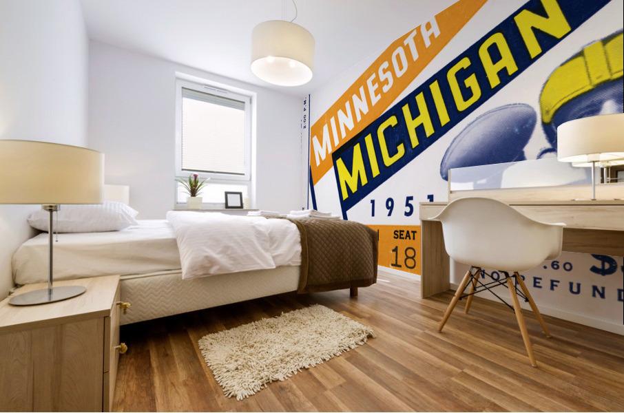 1951 Michigan vs. Minnesota Football Ticket Art Mural print