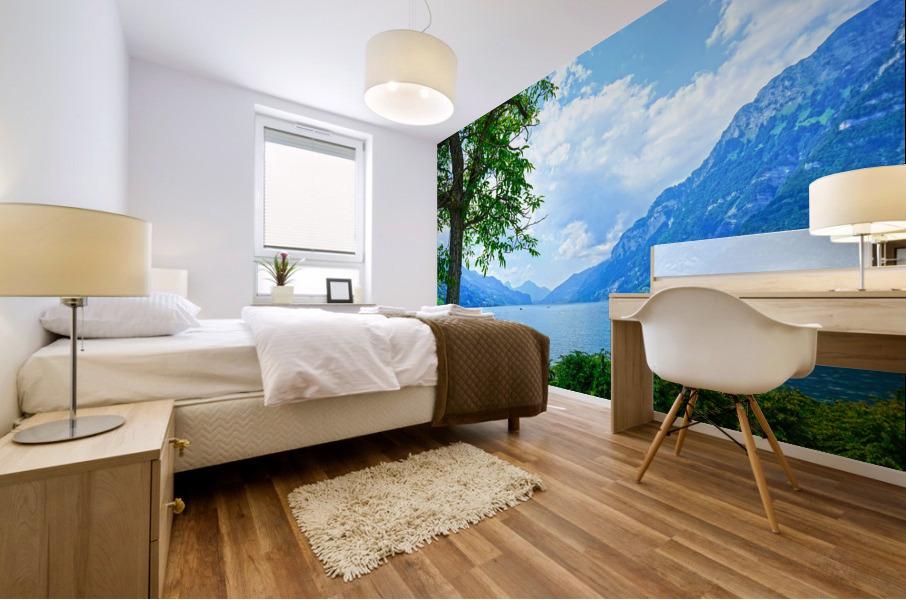 Snapshot in Time Walensee - Lake Walen Switzerland 3 of 3 Mural print