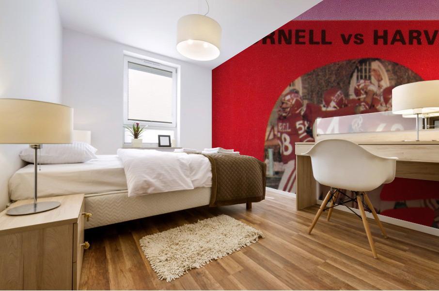 1981 Cornell Big Red vs. Harvard Crimson Mural print