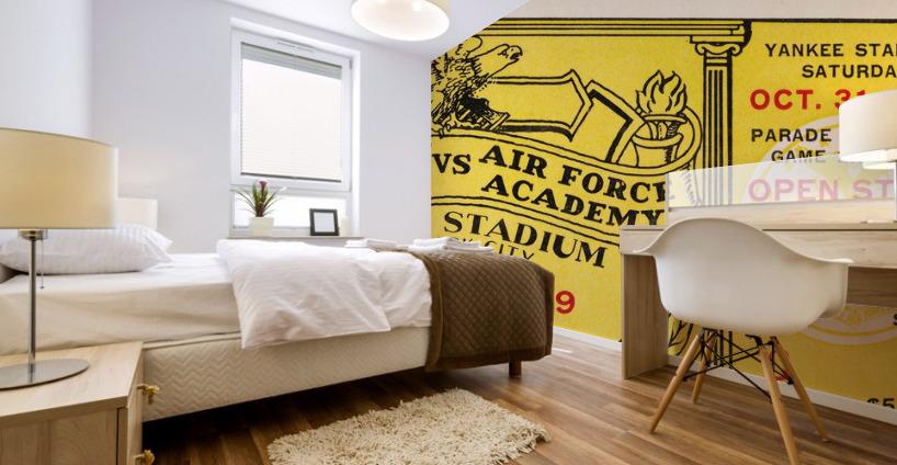 1959 Army vs. Air Force Football Ticket Art Mural print