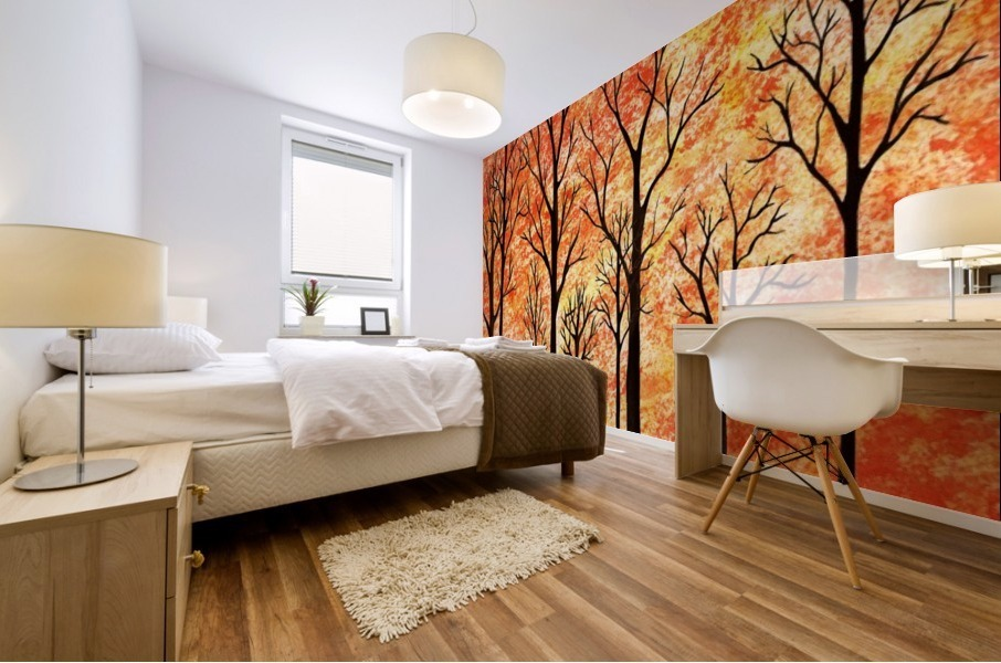 Autumn Forest Abstract  Mural print