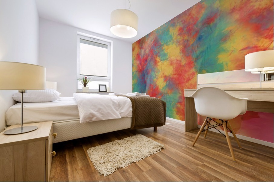 Abstract Elephant Mural print