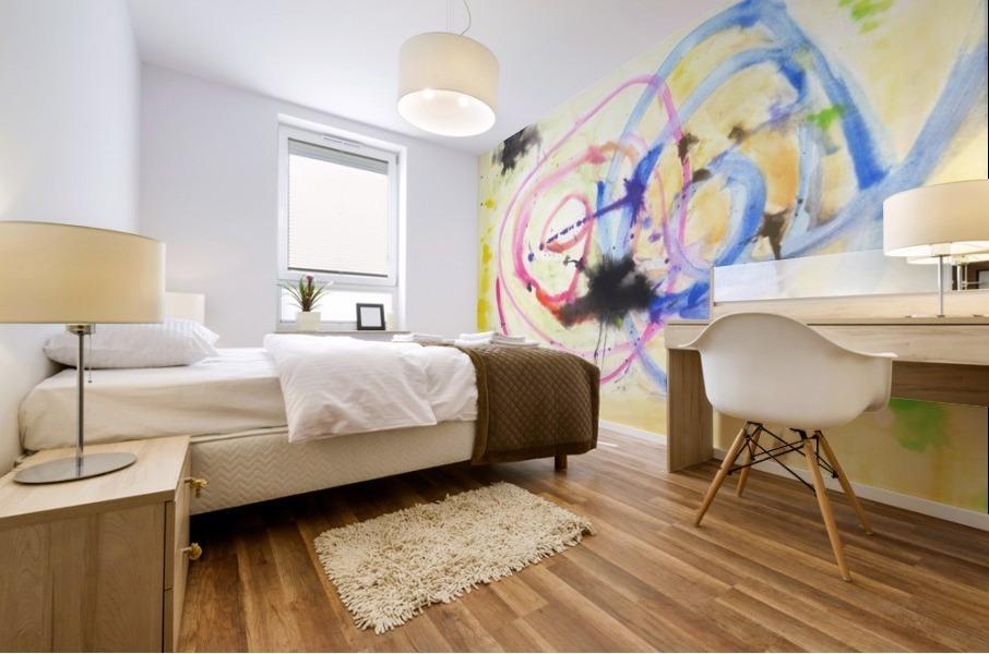 Relationship 1 (Joan Miro tribute) Mural print