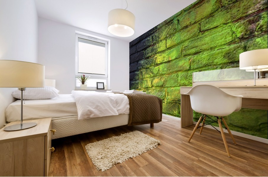 The Green Wall Mural print