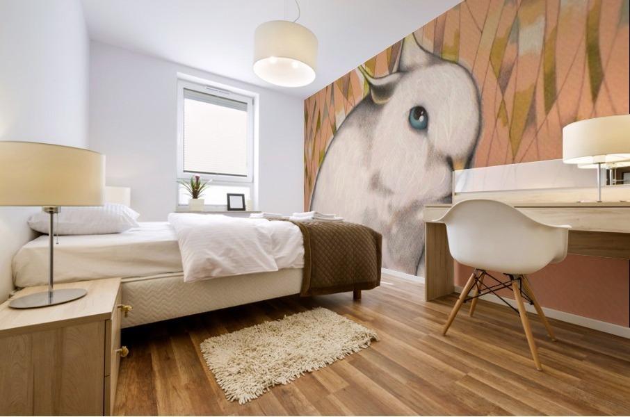 Bunny Alien Mural print
