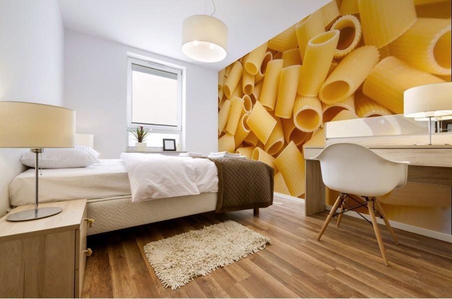 Dry pasta background  Mural print