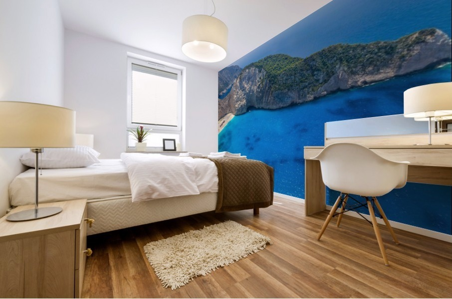 Navagio beach with shipwreck on Zakynthos island in Greece Mural print