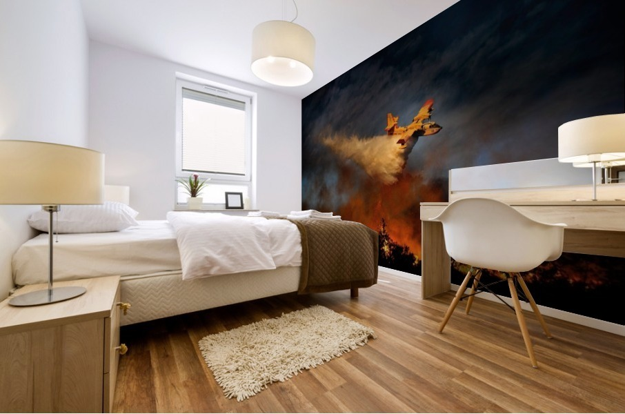 Wall of fire Mural print