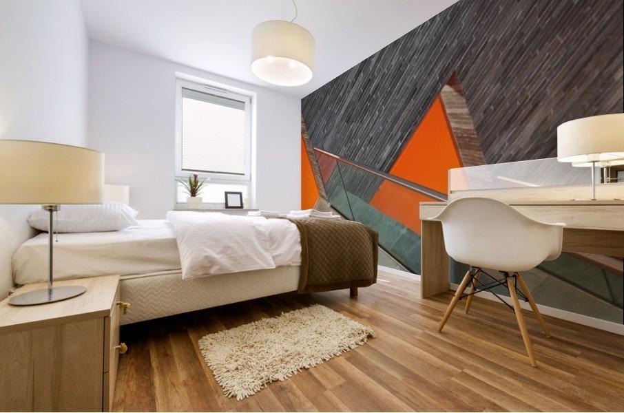 Repeat the orange Mural print
