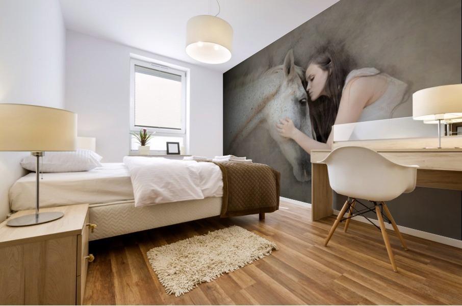 a kiss Mural print
