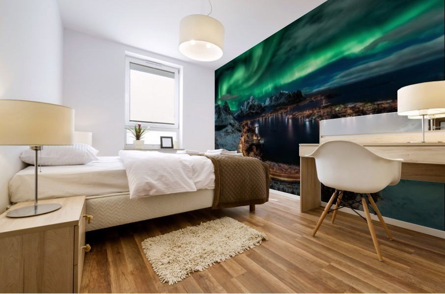 Chasing the Northern Lights Mural print