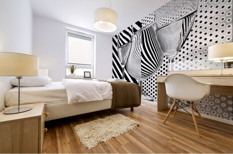 Dots and stripes Mural print