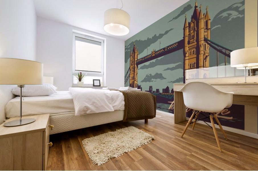 London Tower Bridge Mural print