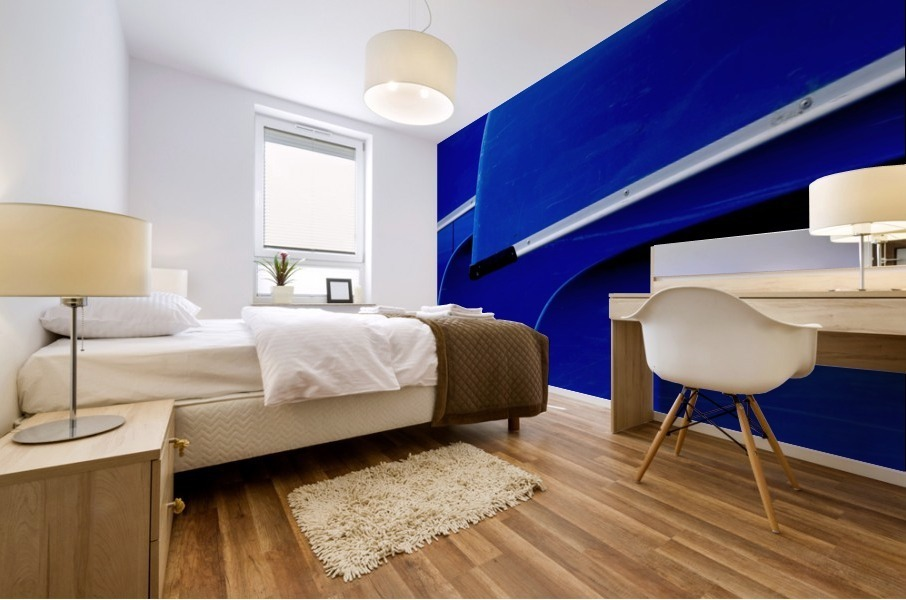 Blue Canoes Mural print