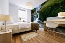 Small Waterfall in the German Black Forest Mural print