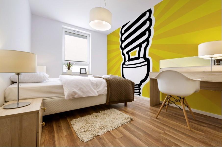 Compact Fluorescent Lightbulb Mural print