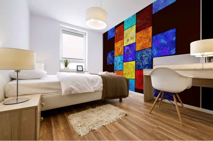 Ecleptios - colourful world Mural print