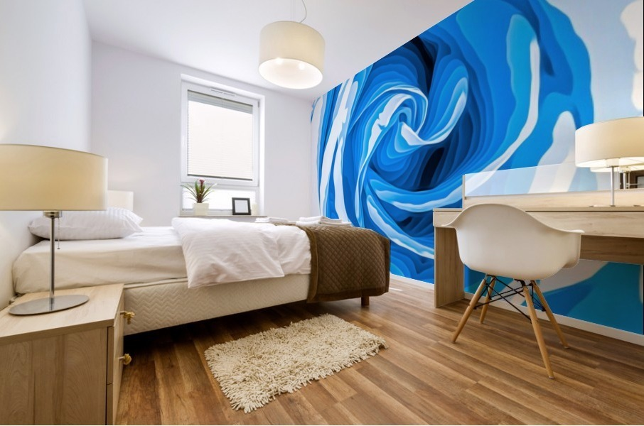 closeup blue rose texture abstract background Mural print