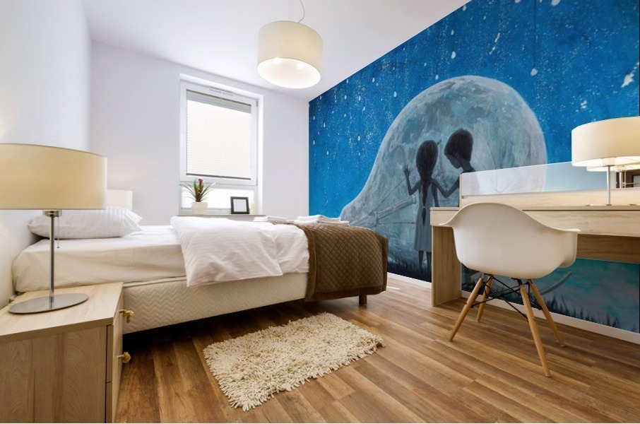 The Night We Broke The Moon Mural print