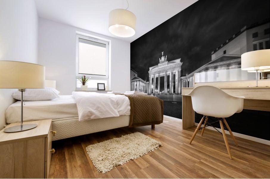 BERLIN Brandenburg Gate   Monochrome Mural print