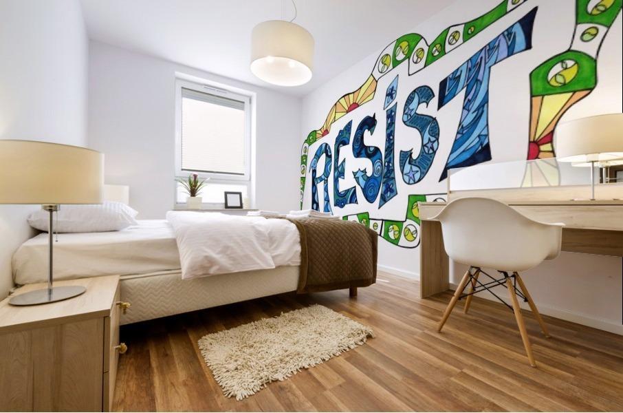 RESIST 3 Mural print
