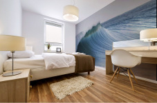 Hawaii, Oahu, Beautiful Wave Breaking. Mural print