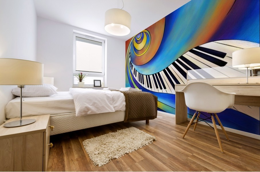 Redemessia - spiral piano Mural print