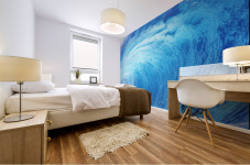 Hawaii, Oahu, North Shore, Curling Wave At World Famous Pipeline. Mural print
