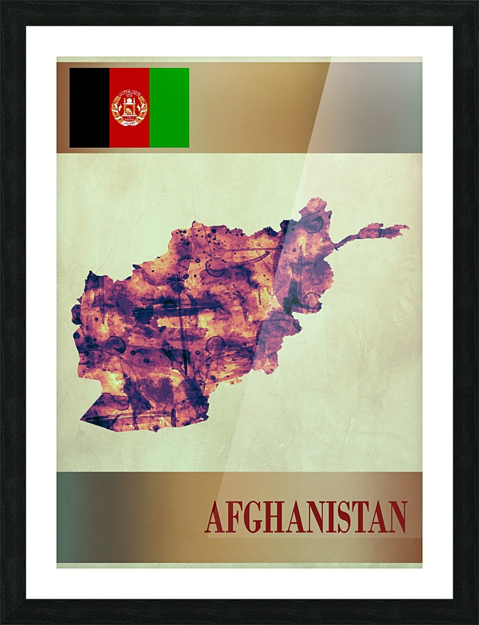 Afghanistan Map With Flag Towseef Dar
