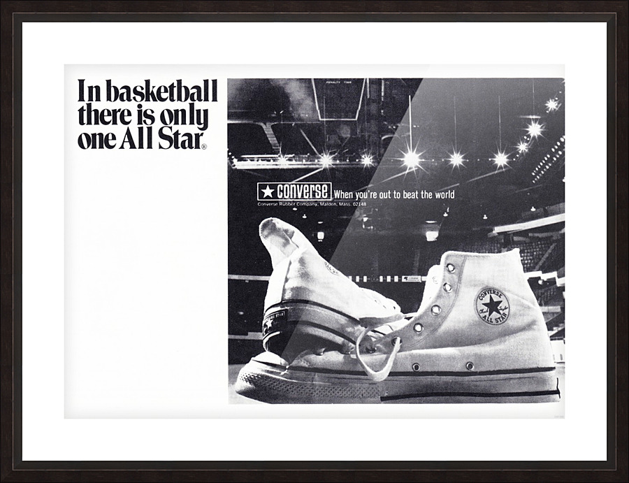 1968 converse all star shoe ad reproduction wall art - Row One Brand