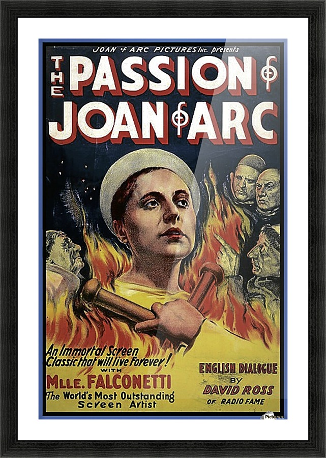 The Passion Of Joan Of Arc 1928 Ad Vintage Poster