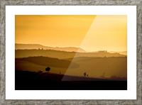 Tuscany Pienza Dawn Picture Frame print