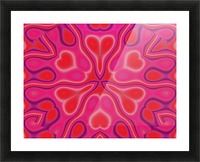 California Wildflower In Pink and Red Picture Frame print