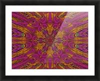 Pink Orange Jasmine Picture Frame print