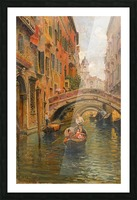 A walk with the gondola along a small canal in Venice Picture Frame print