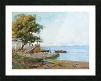 La baie de Naples Picture Frame print