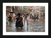 Naples via Toledo, with rain drops Picture Frame print