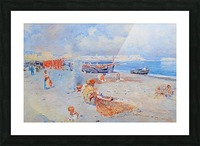 Beach of Mergellina Picture Frame print