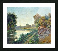 Canale a Saint Martin a Chalons Picture Frame print