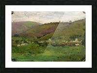 Landscape with houses on an Italian hill Picture Frame print