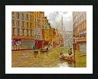 Street in Paris during Flood of 1910 Picture Frame print