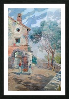 Two girls carrying fruits to their house Picture Frame print