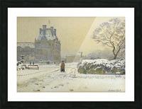 Le pavillon de flore sous la neige, Paris Picture Frame print