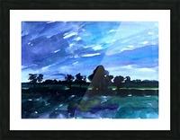 morning landscape 2 Picture Frame print