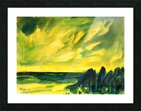 sea and sky Picture Frame print
