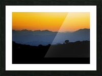 Layer of dawn Picture Frame print