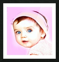 Cute Baby Pic Art Picture Frame print